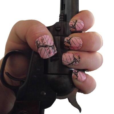 pink camo full nail