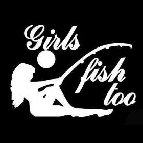 Girls Fish Too Laying