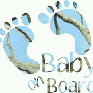 Baby on Board Blue Camo Decal