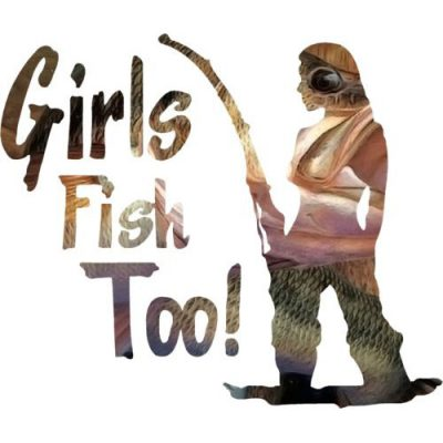 Standing Girls Fish Too Decal
