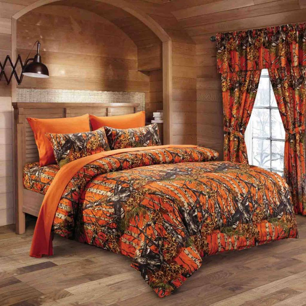 Orange Camo Sheet Set The Swamp Company