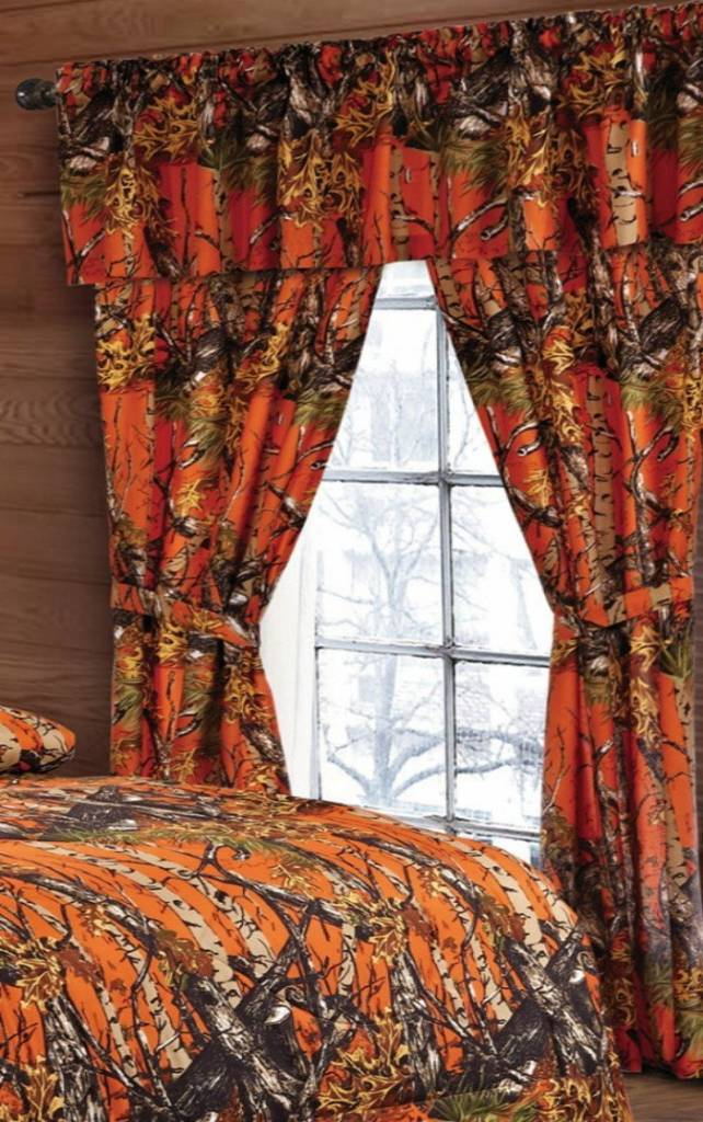 Orange Camo Curtains The Swamp Company