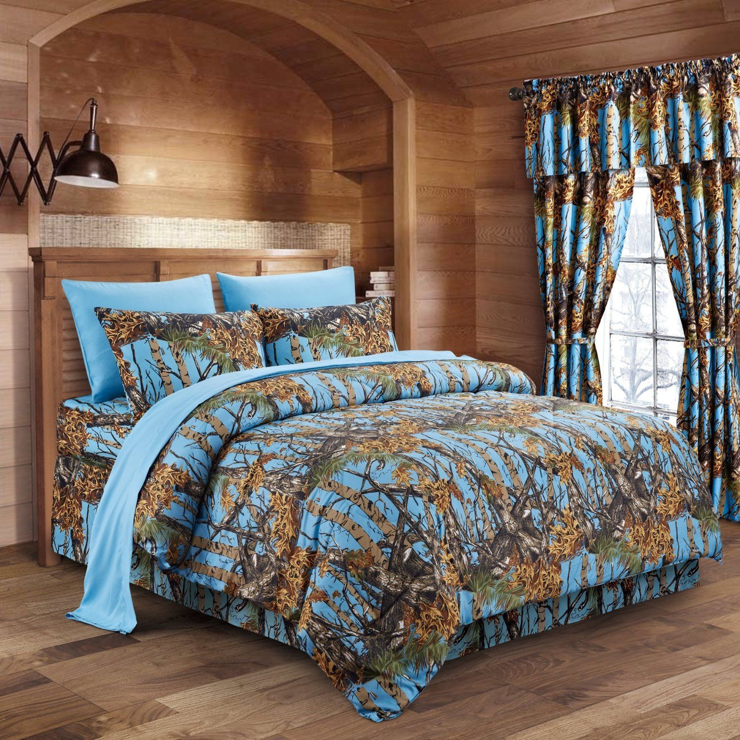 Powder Blue Camo Bed In A Bag Set The Swamp pany