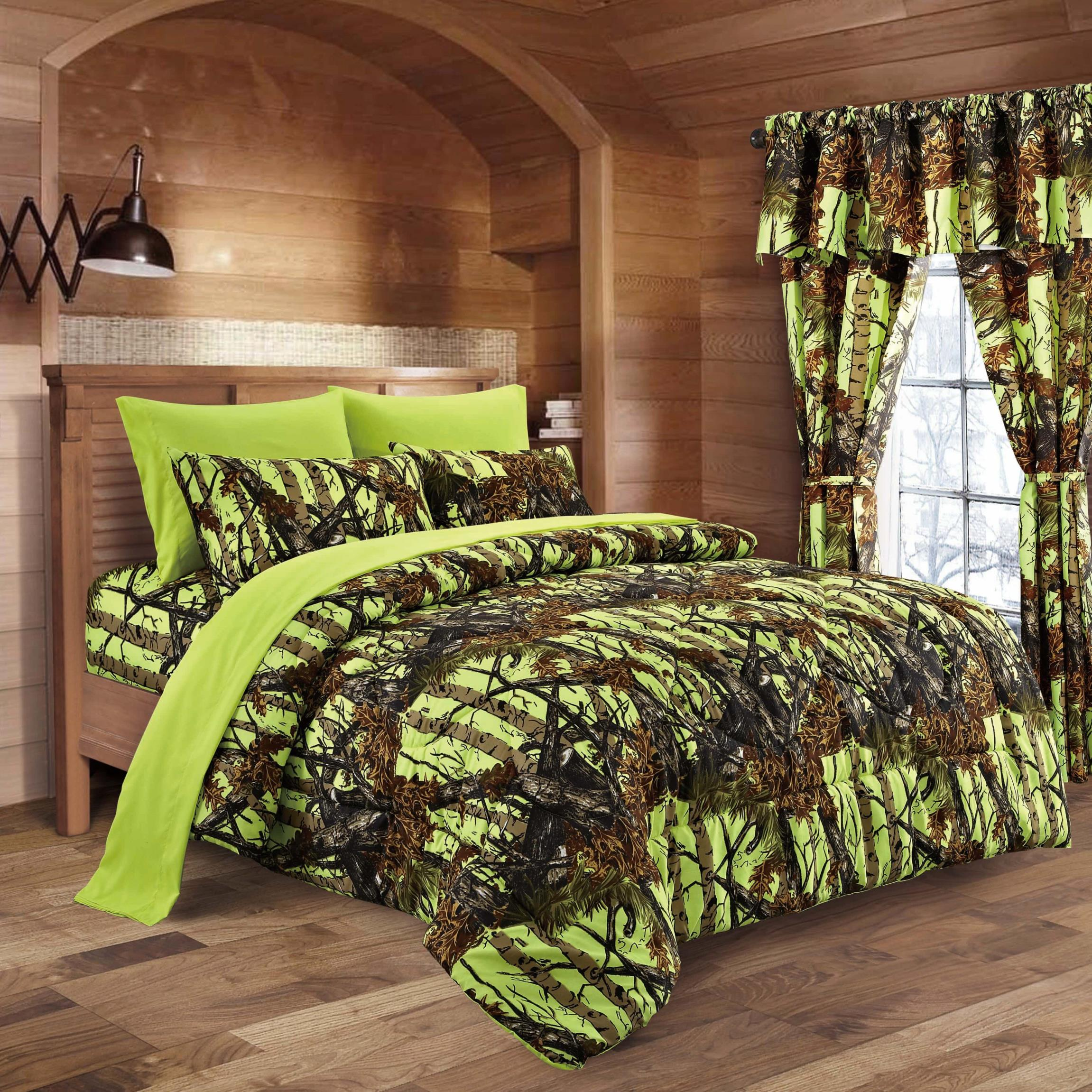 Lime Camo Bed In A Bag Set The Swamp pany