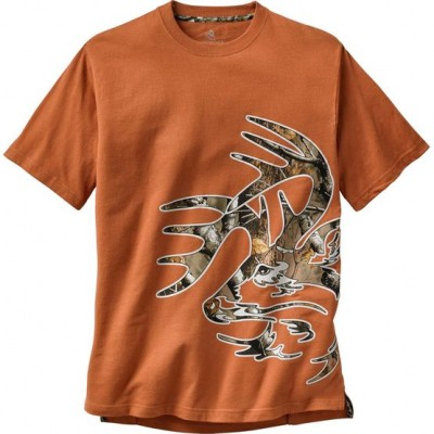Burnt Orange Men's Wild Buck Big Game Camo T-Shirt