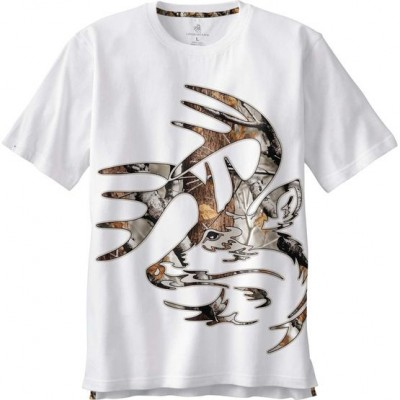 White Men's Wild Buck Big Game Camo T-Shirt