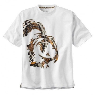 White Men's Wild Turkey White Short Sleeve Camo T-Shirt