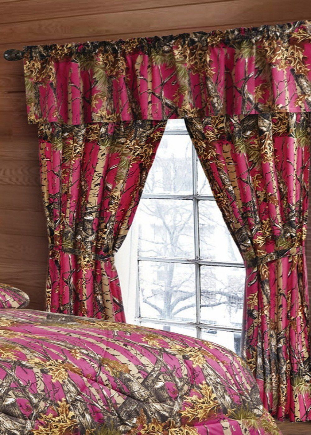 Hot pink curtains - Hot Pink Camo Curtains