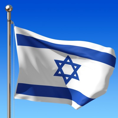 israel-flag-on-flagpole