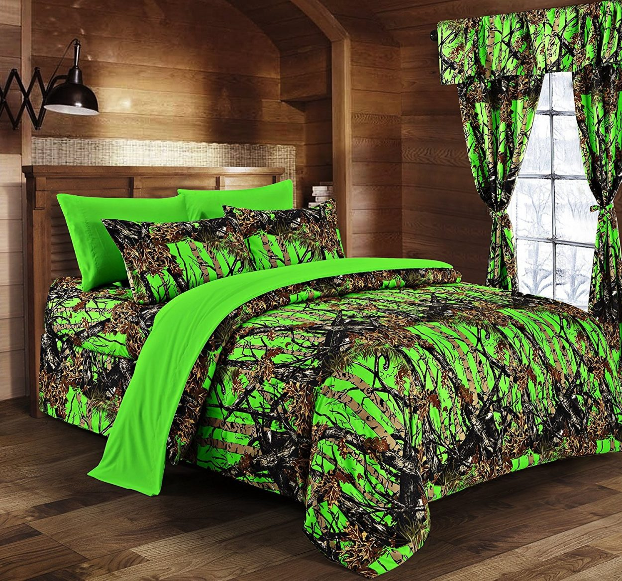Well known Day-Glow Green Camo Sheet Set - The Swamp Company JL14