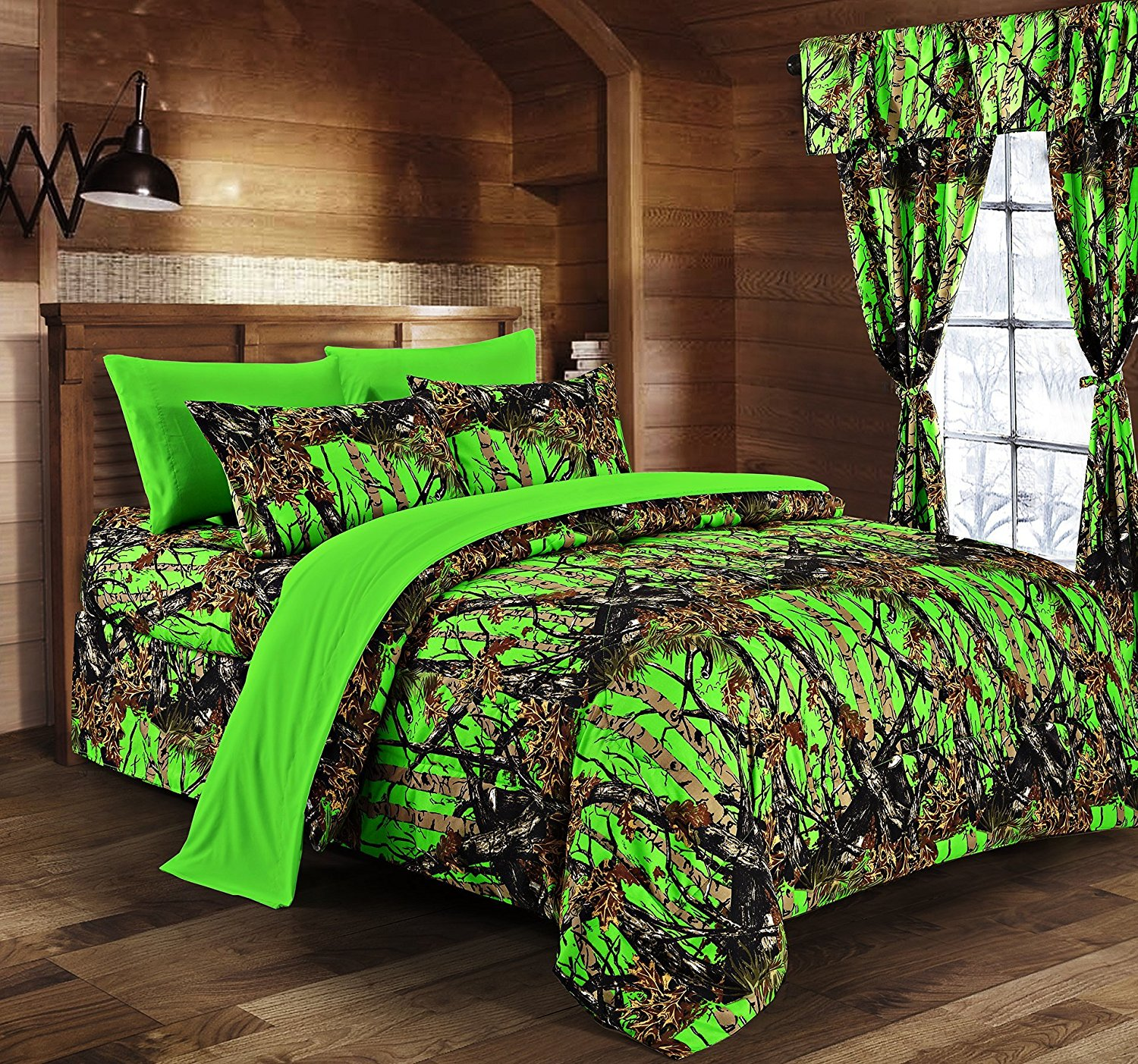 Day Glow Green Camo Bed In A Bag Set The Swamp Company